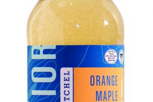 ORANGE MAPLE SPLASH A SPARKLING APPLE CIDER VINEGAR & GINGER ELIXIR