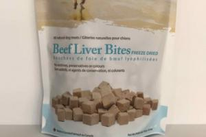 BEEF LIVER BITES FREEZE DRIED NATURAL DOG TREATS