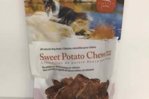 SWEET POTATO CHEWS WITH LIVER ALL NATURAL DOG TREATS