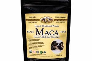 ORGANIC GELATINIZED BLACK MACA POWDER