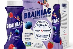 MIXED BERRY WHOLE MILK YOGURT WITH BRAINPACK SUPPORTS BRAIN DEVELOPMENT