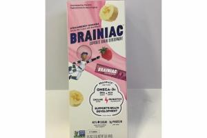 STRAWBERRY BANANA WHOLE MILK YOGURT WITH BRAINPACK SUPPORTS BRAIN DEVELOPMENT