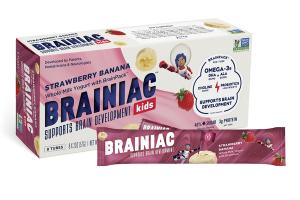 STRAWBERRY BANANA WHOLE MILK YOGURT WITH BRAINPACK