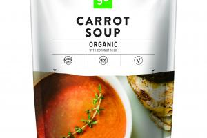 ORGANIC CARROT SOUP WITH COCONUT MILK