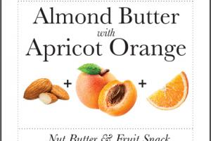 ALMOND BUTTER WITH APRICOT ORANGE NUT BUTTER & FRUIT SNACK