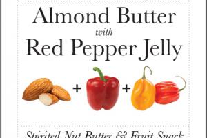 ALMOND BUTTER WITH RED PEPPER JELLY SPIRITED NUT BUTTER & FRUIT SNACK