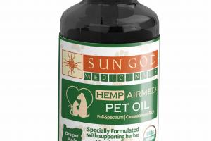 FULL-SPECTRUM HEMP AIRMED PET OIL, MARSHMALLOW DANDELION