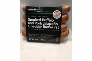 SMOKED BUFFALO AND PORK JALAPENO CHEDDAR BRATWURST