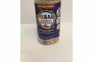 POWDERED ALMOND BUTTER 90% LESS CALORIES FROM FAT THAN TRADITIONAL ALMOND BUTTER