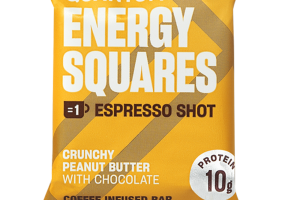 CRUNCHY PEANUT BUTTER WITH CHOCOLATE COFFEE INFUSED BAR