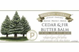 CEDAR & FIR BUTTER BALM FOR MEN - HAIR, BODY, BEARD