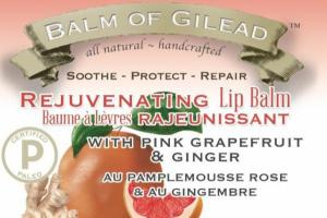 REJUVENATING LIP BALM WITH PINK GRAPEFRUIT & GINGER, PINK GRAPEFRUIT