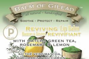 REVIVING LIP BALM WITH MATCHA GREEN TEA, ROSEMARY & LEMON, MATCHA LEMON