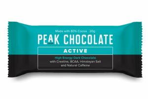 ACTIVE HIGH ENERGY DARK CHOCOLATE WITH CREATINE, BCAA, HIMALAYAN SALT AND NATURAL CAFFEINE
