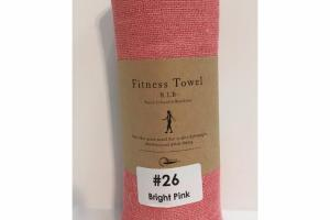 #26 BRIGHT PINK FITNESS TOWEL