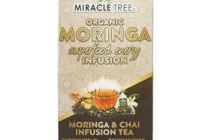 ORGANIC MORINGA & CHAI SUPERFOOD ENERGY INFUSION TEA BAGS