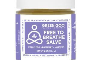 FREE TO BREATHE SALVE, EUCALYPTUS + ROSEMARY + LAVENDER