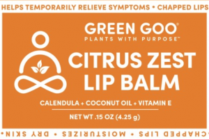 HELPS TEMPORARILY RELIEVE SYMPTOMS LIP BALM, CITRUS ZEST