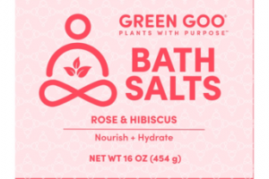 BATH SALTS, ROSE & HIBISCUS