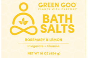 INVIGORATE + CLEANSE BATH SALTS, ROSEMARY & LEMON