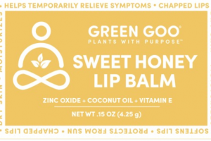 HELPS TEMPORARILY RELIEVE SYMPTOMS LIP BALM, SWEET HONEY