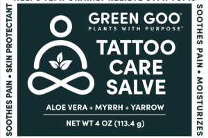 TATTOO CARE SALVE, ALOE VERA + MYRRH + YARROW