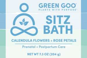 SITZ BATH, CALENDULA FLOWERS + ROSE PETALS