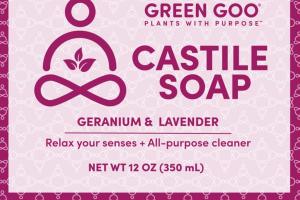 CASTILE SOAP, GERANIUM & LAVENDER