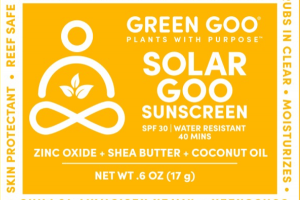 SOLAR GOO SUNSCREEN ZINC OXIDE + SHEA BUTTER + COCONUT OIL