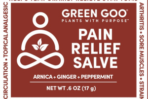 PAIN RELIEF SALVE, ARNICA + GINGER + PEPPERMINT