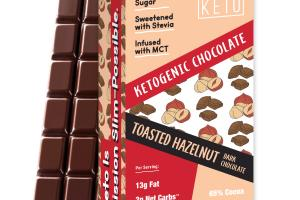 TOASTED HAZELNUT DARK CHOCOLATE KETOGENIC BARS