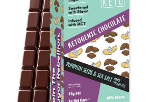 PUMPKIN SEEDS & SEA SALT DARK CHOCOLATE KETOGENIC BARS