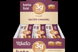SALTED CARAMEL WHITE CHOCOLATE COATING KETO BAR