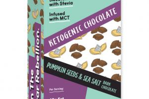 PUMPKIN SEEDS & SEA SALT 65% COCOA DARK CHOCOLATE KETOGENIC BARS