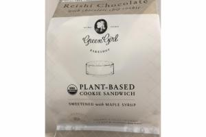 REISHI CHOCOLATE WITH CHOCOLATE CHIP COOKIE PLANT-BASED COOKIE SANDWICH