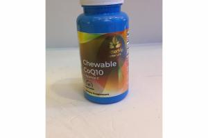 CHEWABLE COQ10 + VITAMIN C DIETARY SUPPLEMENT VEGAN TABLETS