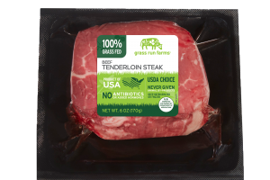 100% GRASS FED BEEF TENDERLOIN STEAK