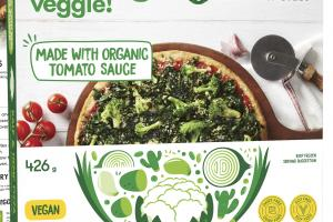 CAULIFLOWER CRUST KALE & HEMP PIZZA