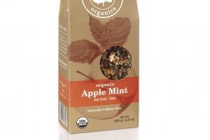 NATURALLY CAFFEINE FREE ORGANIC APPLE MINT HERBAL TEA