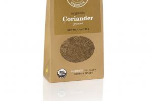 ORGANIC CORIANDER GROUND CULINARY HERBS & SPICES