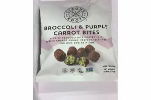 BROCCOLI & PURPLE CARROT BITES