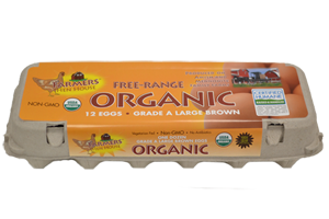 ORGANIC GRADE A LARGE BROWN EGGS