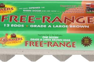 FREE-RANGE GRADE A LARGE BROWN EGGS