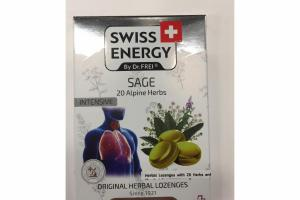 INTENSIVE SAGE 20 ALPINE HERBS ORIGINAL HERBAL LOZENGES