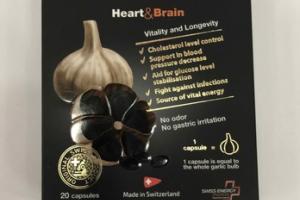 BLACK GARLIC WITH VITAMIN B-GROUP HEART & BRAIN CAPSULES