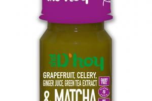 GRAPEFRUIT, CELERY, GINGER JUICE, GREEN TEA EXTRACT & MATCHA JUICE DRINK