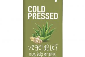 COLD PRESSED 100% JUICE OF APPLE, CUCUMBER, GINGER, PEPPER, SPINACH, LIME, LETTUCE, CELERY, PARSLEY & ALOE VERA
