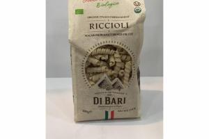 RICCIOLI MACARONI PRODUCT BRONZE DIE CUT ORGANIC ITALIAN DURUM WHEAT