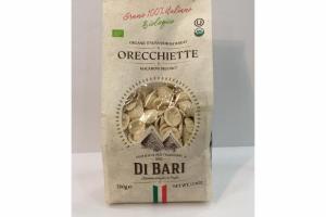 ORGANIC ITALIAN DURUM WHEAT ORECCHIETTE MACARONI PRODUCT