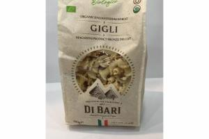 GIGLI ORGANIC ITALIAN DURUM WHEAT MACARONI PRODUCT BRONZE DIE CUT